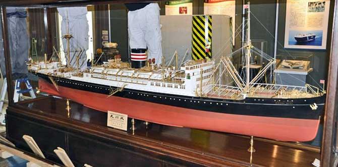 日本郵船博物館・氷川丸の模型