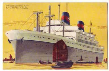 APL客船プレジデントウィルソン:店長日記の写真:ポスター販売・Ocean-Note