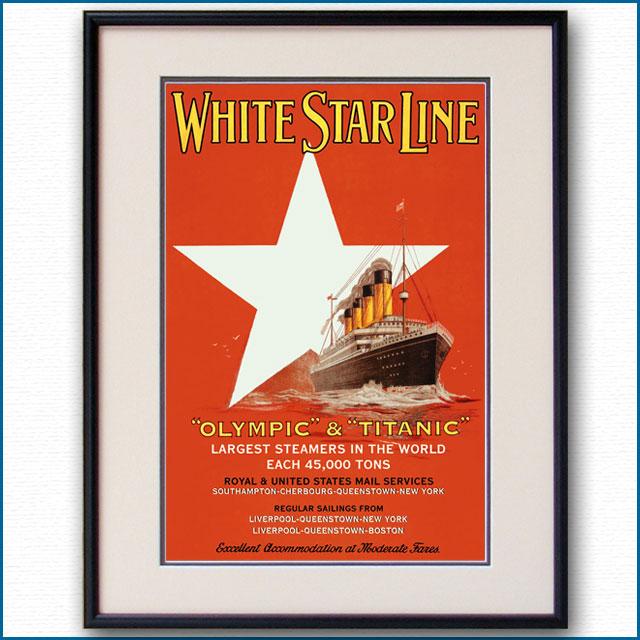 1912年 客船オリンピック タイタニックのポスター 2084LL