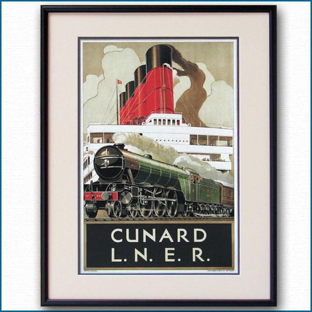 1932年 キュナード LNER鉄道のポスター 2274LL