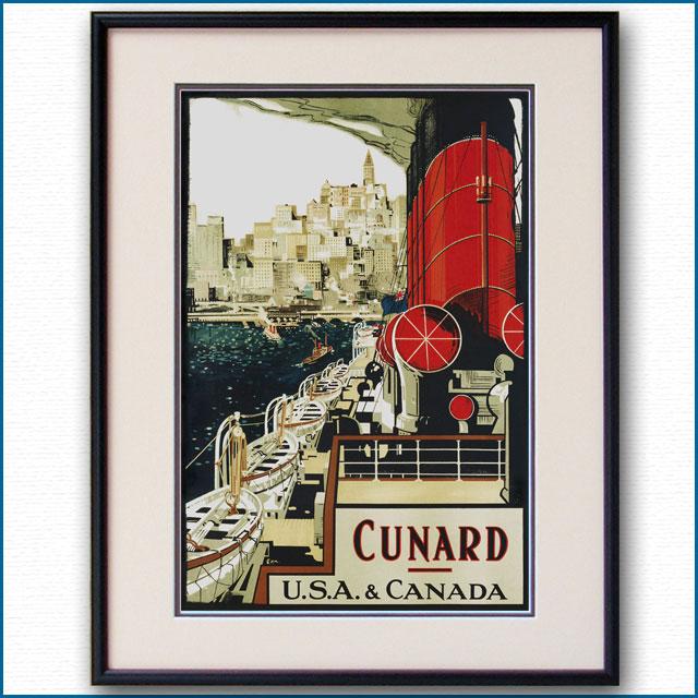 1925年 フランク・ヘンリー・メイソン キュナードラインのポスター 2282LL