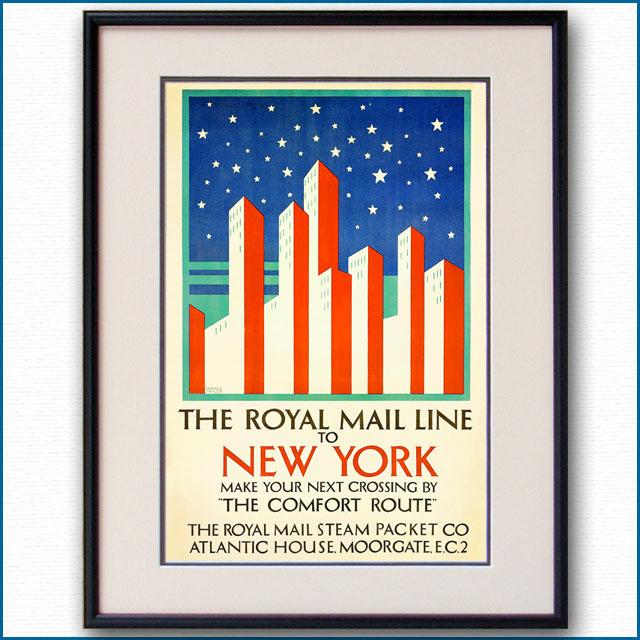 1925年 RMSPロイヤルメールラインのポスター 2319LL