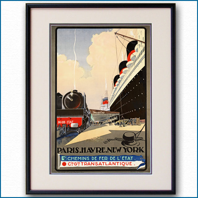 1932年 フレンチライン 仏東部鉄道のポスター 2411LL