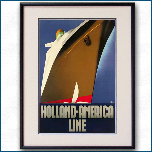 1937年 ウィレム・テン・ブローク 客船ニューアムステルダムのポスター 2452LL