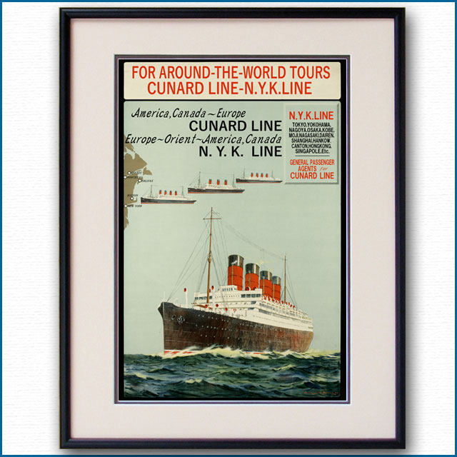 1930年 日本郵船・キュナードラインのポスター 2584LL
