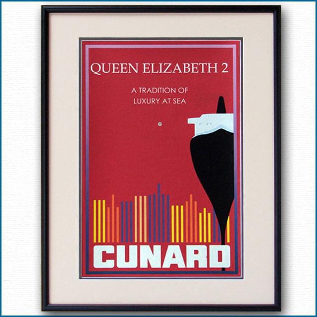 1993年 キュナード クイーンエリザベス2のポスター 2608LL