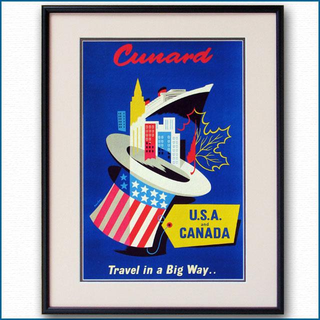 1955年 ジャック・ナタン キュナードラインのポスター 2720LL
