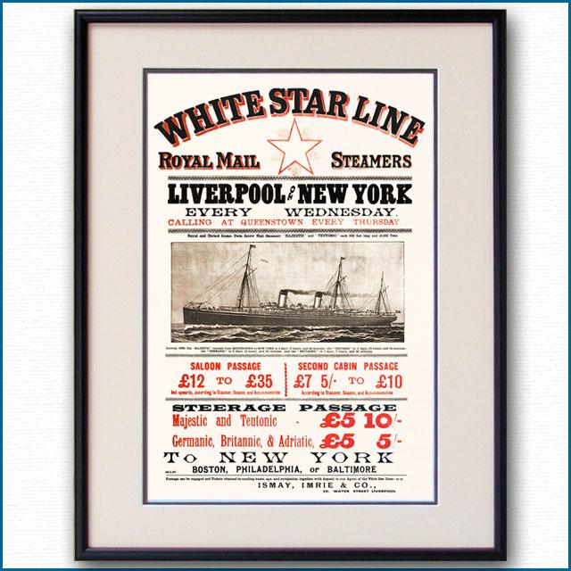 1897年 ホワイトスターラインのポスター 2776LL