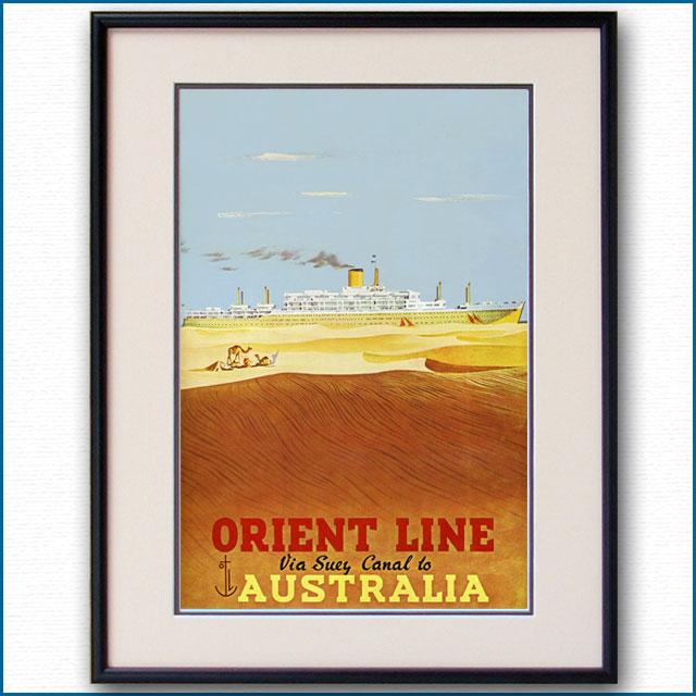 1955年 アブラム・ゲームズ スエズ運河経由のポスター 2916LL
