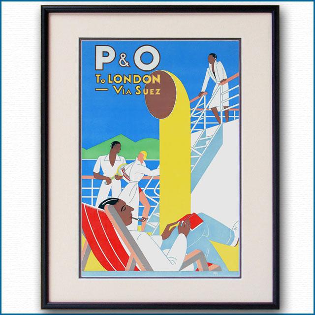 1937年 フランク・ヒンダー P&Oのポスター 2928LL