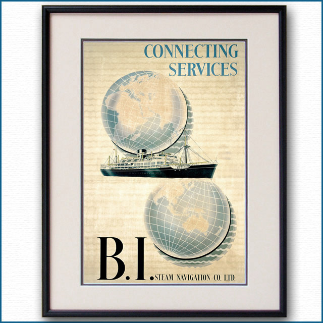 1952年 BIライン 客船ウガンダのポスター 2933LL