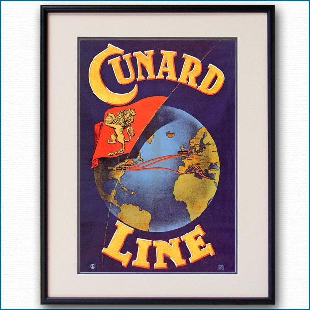 1908年 キュナードラインのポスター 2937LL