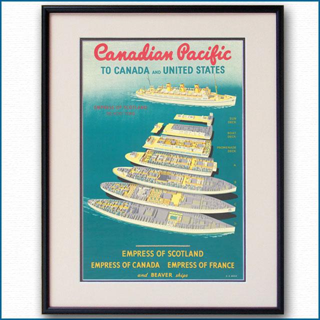 1951年 CPL 客船エンプレス・オブ・スコットランドのポスター 2950LL