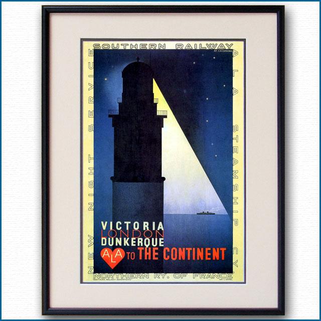 1927年 カッサンドル ALA英仏海峡連絡船のポスター 2968LL
