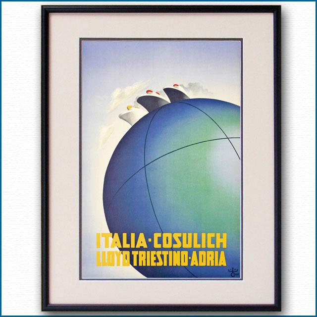 1936年 カッサンドル イタリアンラインのポスター 2971LL