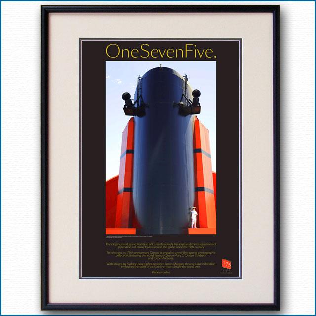 2015年 キュナード クイーンメリー2のポスター 175Anniv 2975LL