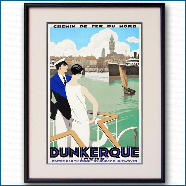 1930年 ロジャー・ブローダー ダンケルクのポスター 2977LL