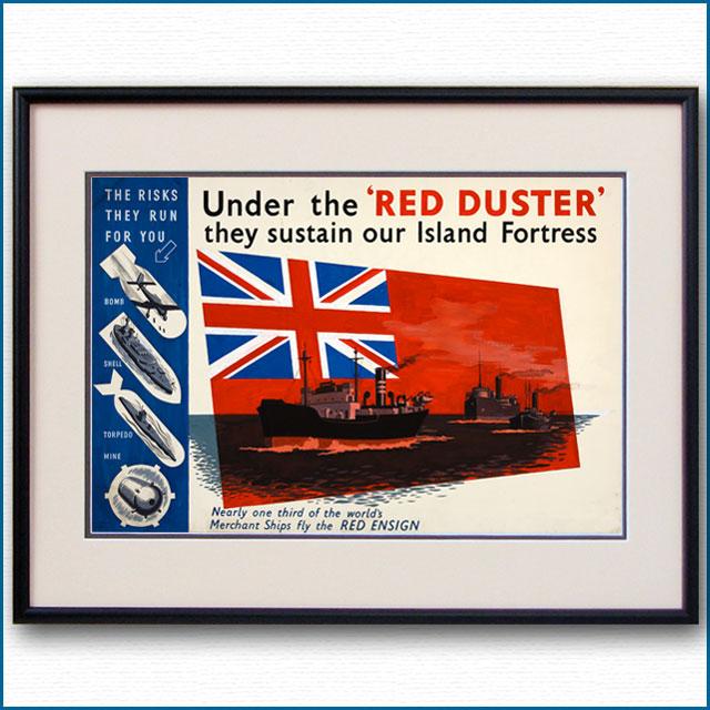 1940年 英国レッドエンサイン プロパガンダポスター 2996LL