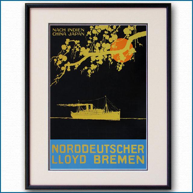 1920年 北ドイツロイドラインのポスター 3022LL