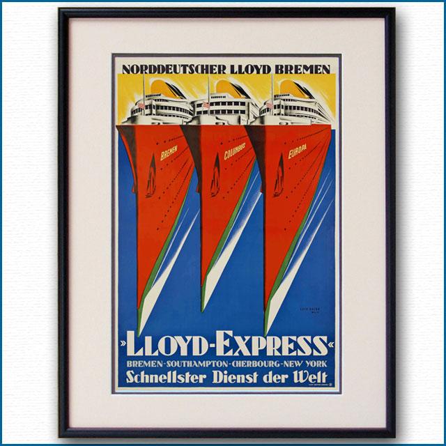 1932年 ロイス・ガイッグ 北ドイツロイドラインのポスター 3024LL