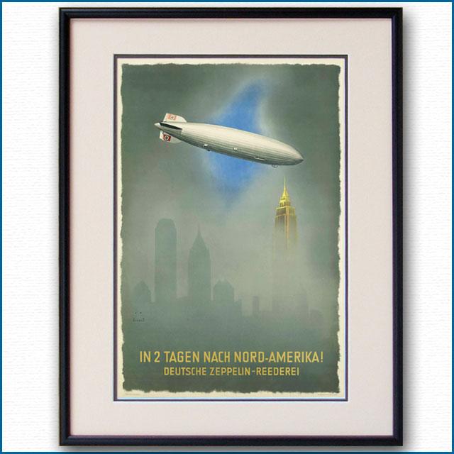 1936年 ジャップ・ヴィールツ ツェッペリンのポスター 3025LL