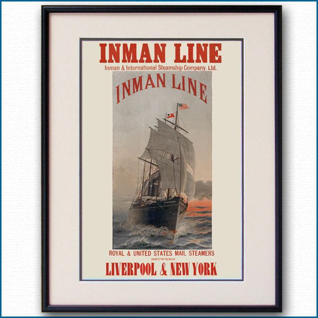1885年 インマンラインのポスター 3027LL