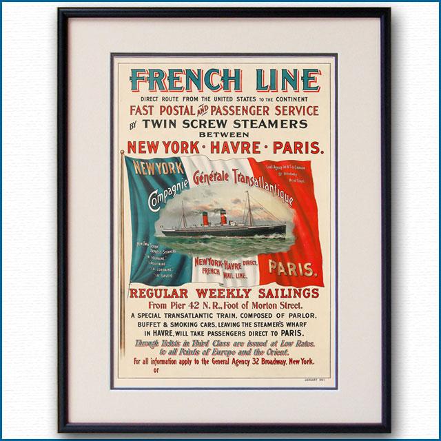 1901年 フレンチラインのポスター 3034LL