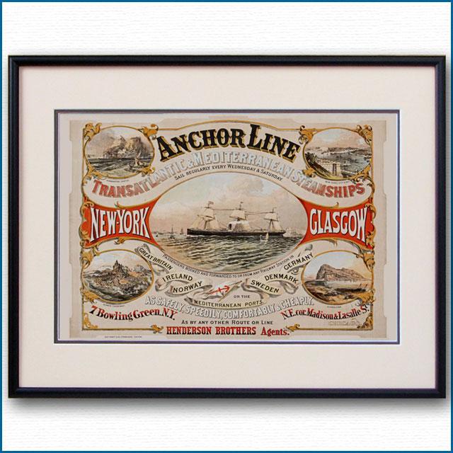 1870年 アンカーラインのポスター 3037LL