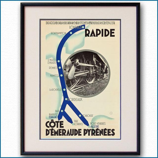 1932年 フランス地方鉄道・英国サザン鉄道のポスター 3050LL