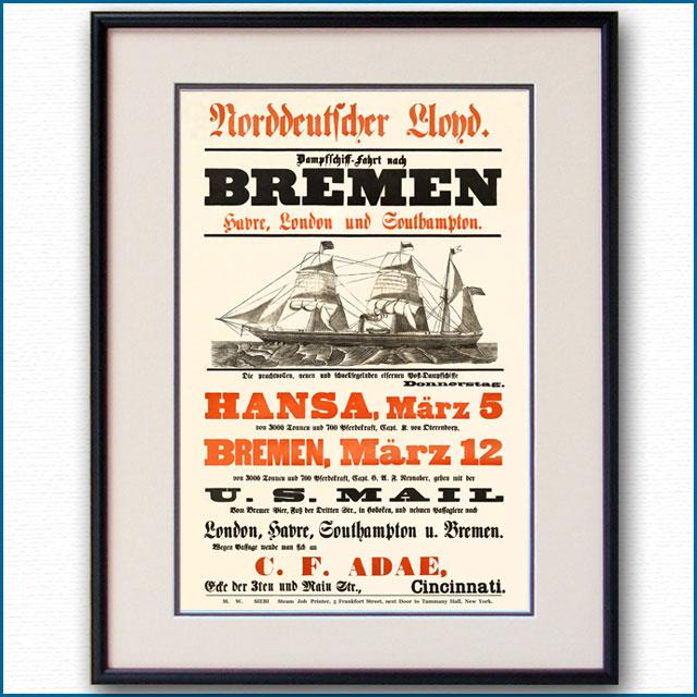 1869年 北ドイツロイドラインのポスター 3054LL
