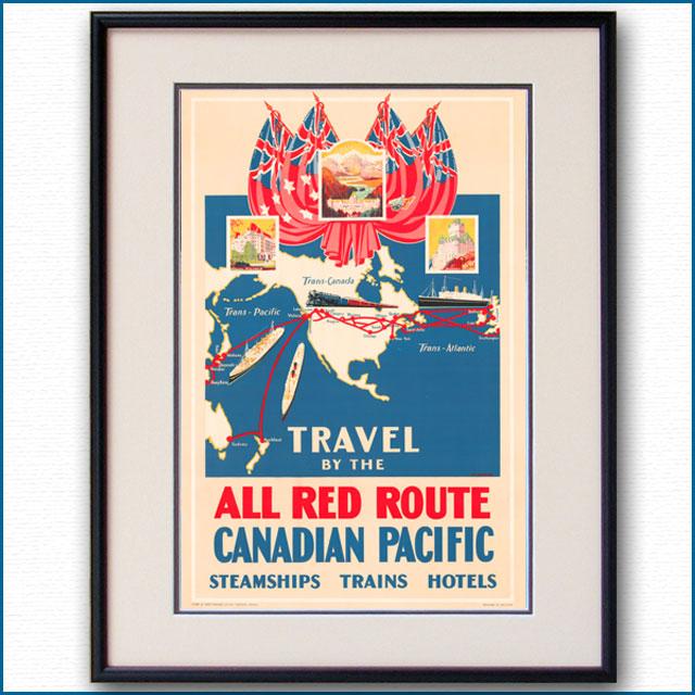 1929年 アルフレッド・クロッカー カナディアンパシフィックのポスター 3077LL