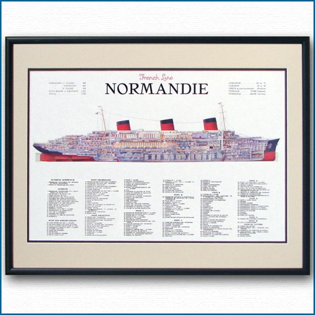 客船ノルマンディーの断面図 2470XL