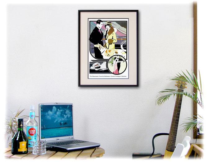 1974年 パトリック・ナゲル 客船モーレータニア バランタインのポスター、ディスプレーイメージ
