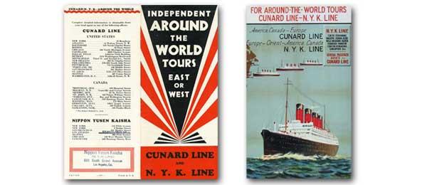 キュナードと日本郵船:四方海話:ポスター販売・Ocean-Note