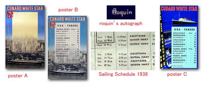 キュナードホワイトスターのポスター・ロクイン:四方海話:ポスター販売・Ocean-Note