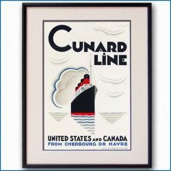 キュナードの客船ポスター CUNARD LINE:四方海話:ポスター販売・Ocean-Note