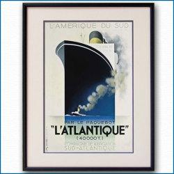 カッサンドルの客船ポスター L'ATLANTIQUE:四方海話:ポスター販売・Ocean-Note