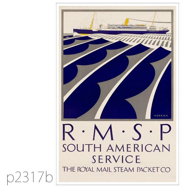 ロイヤルメールライン・Aクラス客船のポスター ポストカード