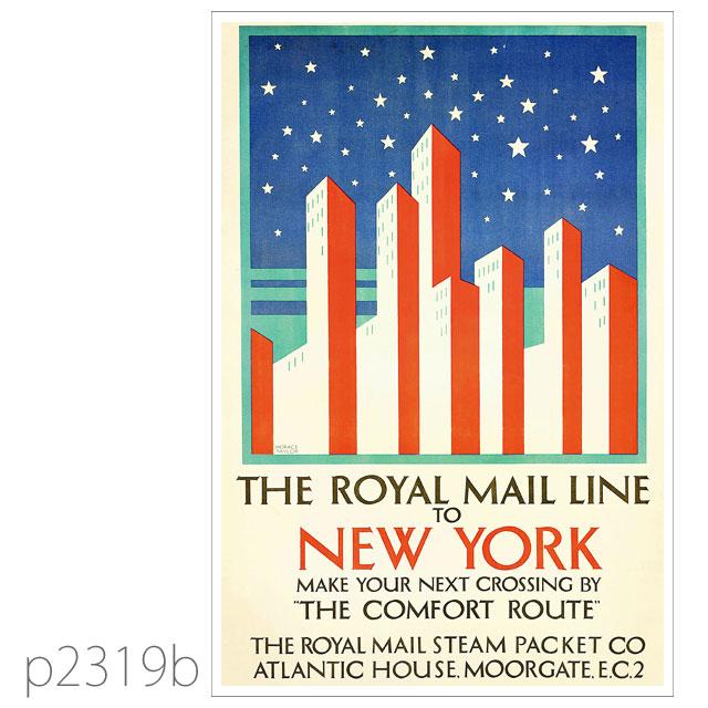 ロイヤルメールライン・客船オハイオのポスター ポストカード