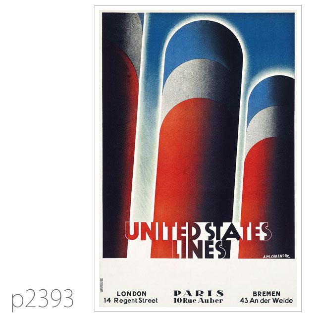 ユナイテッドステーツライン・客船リバイアサンのポスター ポストカード