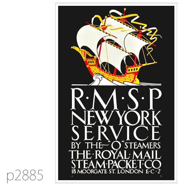 ロイヤルメールライン・Oクラス客船のポスター ポストカード