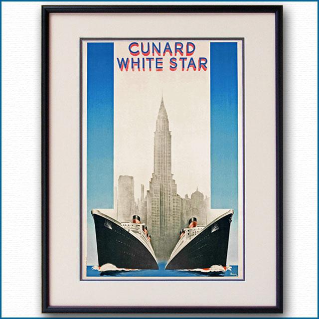 1939年 キュナードホワイトスター 客船クイーンメリー クイーンエリザベスのポスター 2033LL