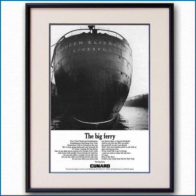 1967年 キュナード・クイーンズ雑誌広告 2042LL