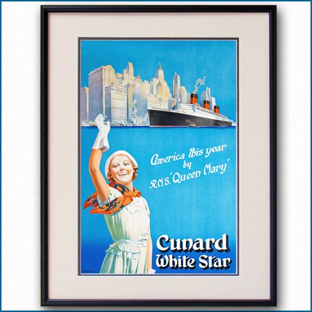 1939年 トム・カー 客船クイーンメリーのポスター 2045LL