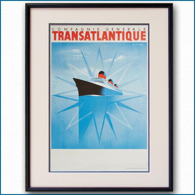 1937年 J・オヴィニュ 客船ノルマンディーのポスター 2073LL