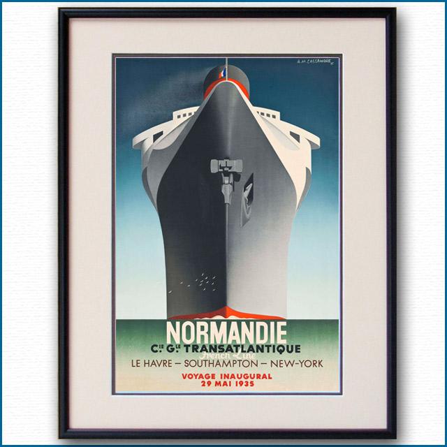 1935年 カッサンドル 客船ノルマンディー VOYAGE INAUGUAL版 2074LL
