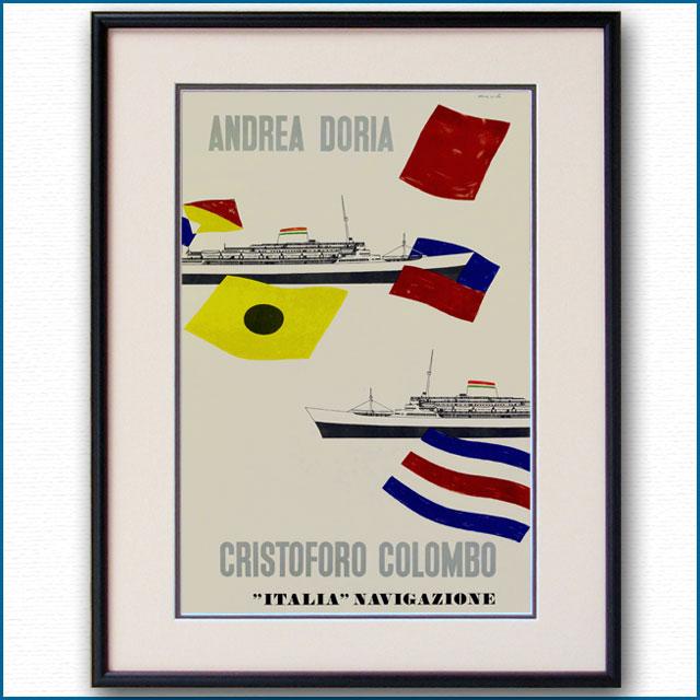1957年 エンリコ・チウチ 客船アンドレア・ドリアのポスター 2093LL