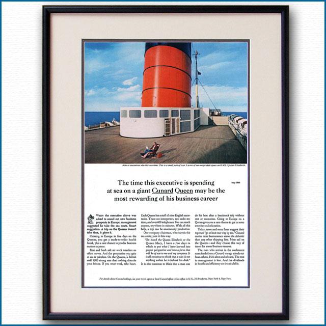 1964年 キュナード・クイーン・客船クイーンエリザベス雑誌広告 2135LL