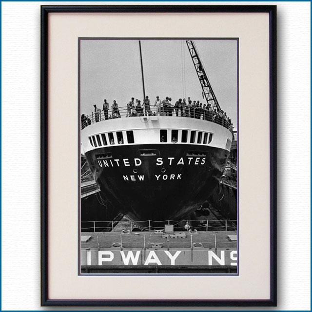 1952年 客船ユナイテッドステーツ・船尾の写真 2155LL