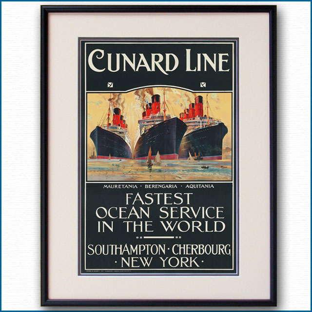 1920年 オーディン・ローセンヴィング キュナードラインのポスター 2283LL
